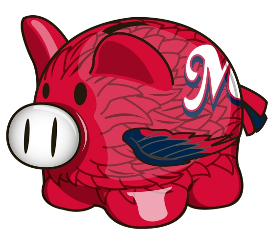 Redbirds Piggy Bank (2,000 fans)